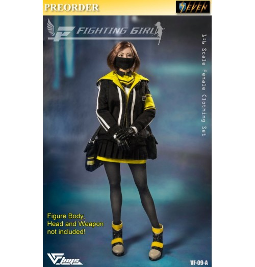 PREORDER: VF TOYS 1/6 Fighting Girl Clothing: Black Set