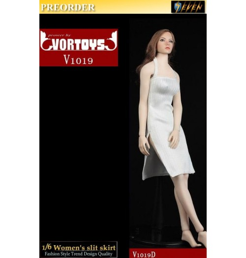 PREORDER: VORTOYS 1/6 V1019D Women's Slit Skirt (White): Set