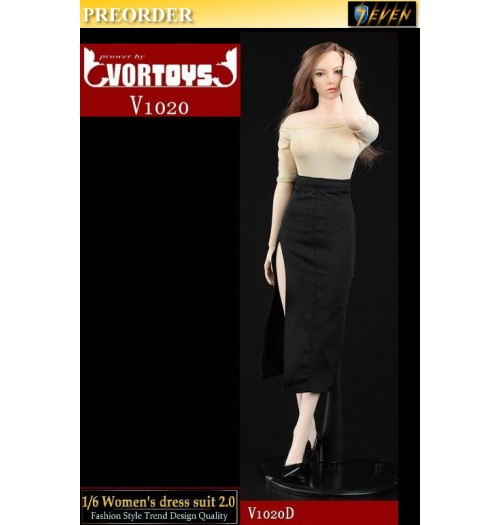 PREORDER: VORTOYS 1/6 V1020D Women's Dress Suit 2.0 (Yellow): Set