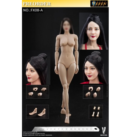 PREORDER: Verycool 1/6 FX08A - Asian Beauty Head Sculpture+VC 3.0 Female Body: Set