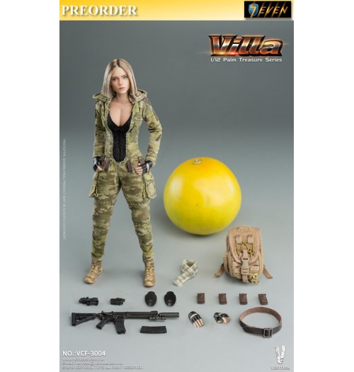 PREORDER: Verycool 1/6 Palm Treasure Series - MC Camouflage Women Soldier Villa: Boxset