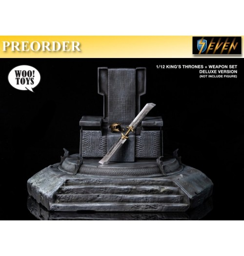 PREORDER: Woo Toys 1/12 King's Thrones+Weapon: Set (Deluxe Version)