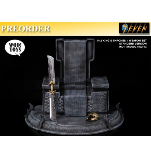 PREORDER: Woo Toys 1/12 King's Thrones+Weapon: Set (Standard Version)