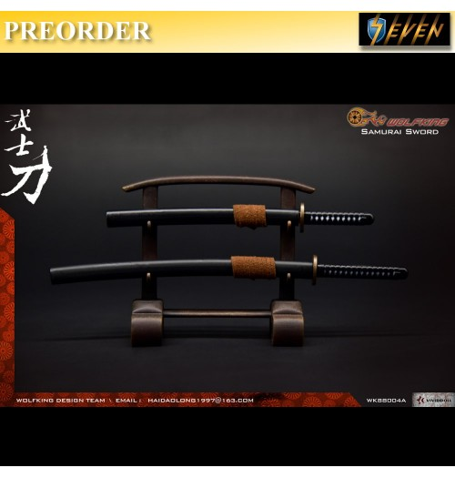 PREORDER: WOLFKING 1/6 Samurai Sword Set - Black