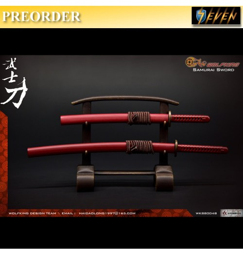PREORDER: WOLFKING 1/6 Samurai Sword Set - Red