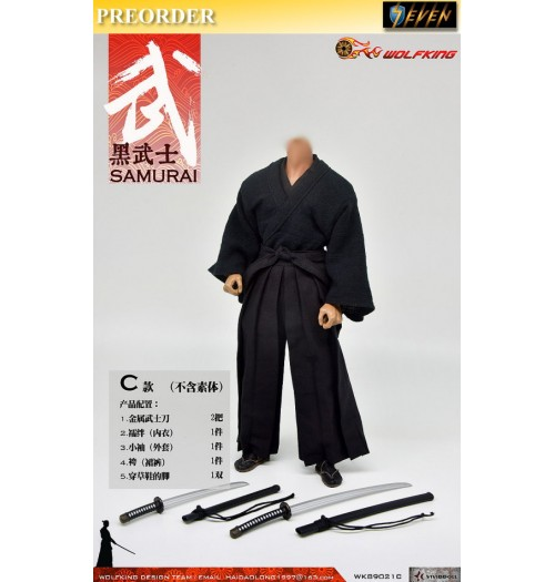PREORDER: Wolfking 1/6 Samurai Clothing Set C: Boxset