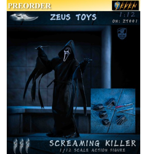 PREORDER: ZEUS TOYS 1/12 ZT001 Screaming Killer: Boxset